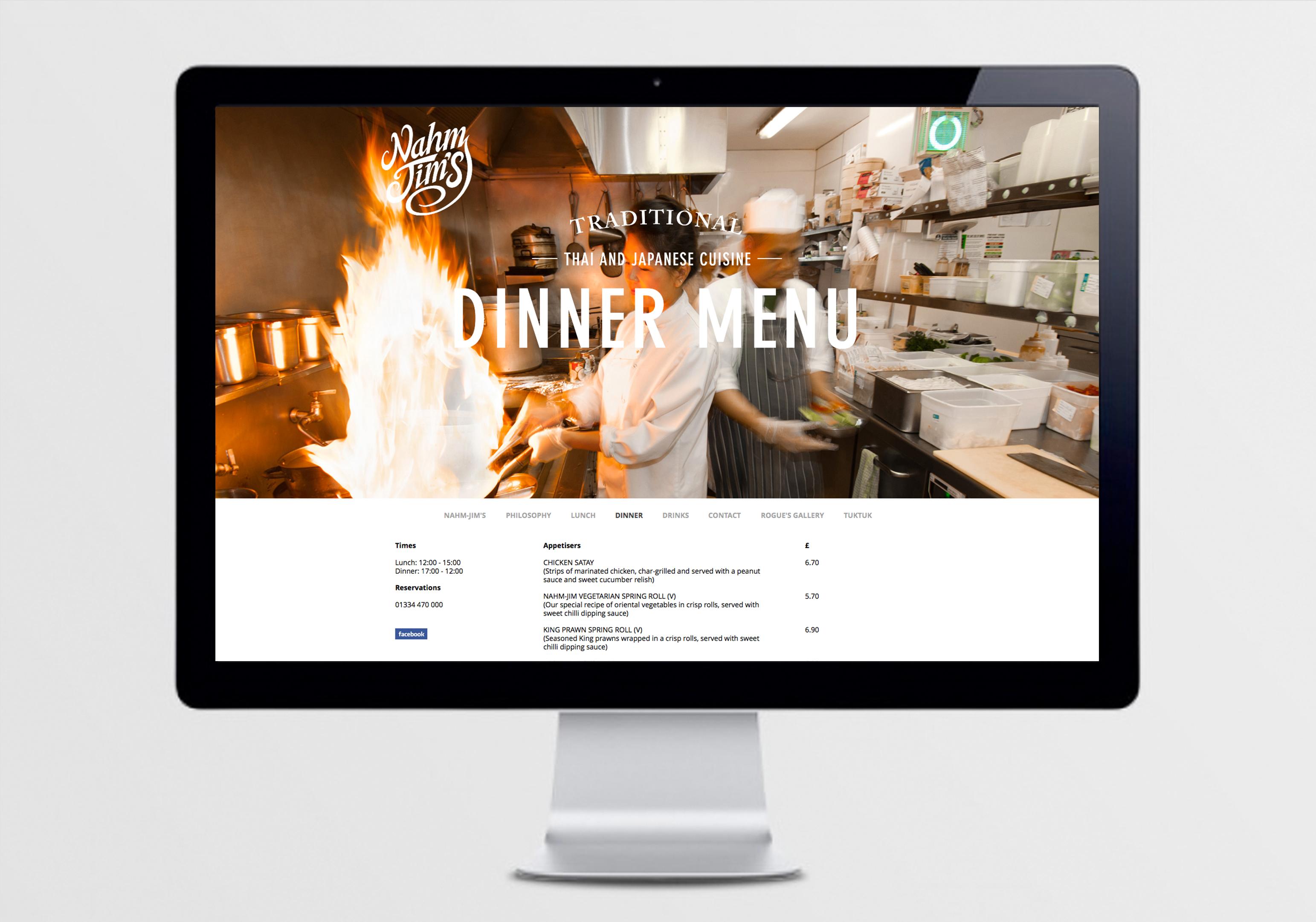 Nahm jim thai restaurant greybridge designgreybridge design